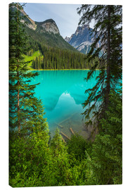 Lienzo  Panoramic View the Emerald Lake in Canada - British Columbia - rclassen