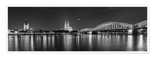 Póster Cologne skyline panorama