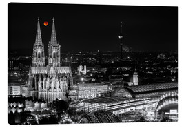 Lienzo  Blutmond over the Cologne Cathedral - rclassen