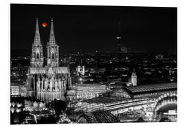 Cuadro de PVC  Blutmond over the Cologne Cathedral - rclassen