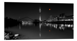 Cuadro de PVC  Dusseldorf media harbor with Blutmond - rclassen