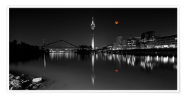Póster  Dusseldorf media harbor with Blutmond - rclassen