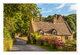 Póster Cottage in the Cotswolds (England)