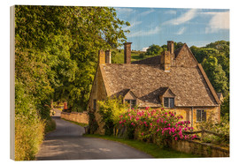 Cuadro de madera  Cottage in the Cotswolds (England) - Christian Müringer