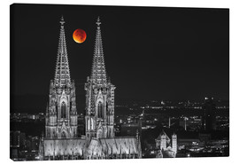 Lienzo  Blood Red Moon Cologne Cathedral - rclassen