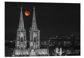Cuadro de PVC  Blood Red Moon Cologne Cathedral - rclassen