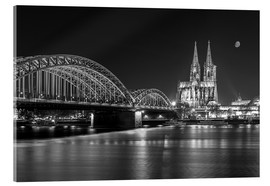 Metacrilato  Cologne Cathedral and Hohenzollern Bridge at night (b / w) - rclassen