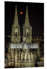 Cuadro de PVC  Blood moon shines over Cologne Cathedral - rclassen