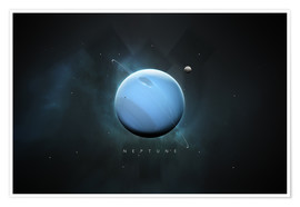 Póster  Solar System Neptune - Tobias Roetsch