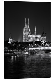 Lienzo  Cologne Cathedral at night - rclassen