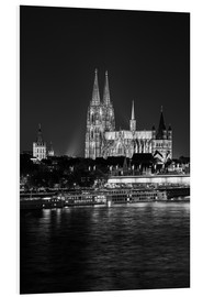 Cuadro de PVC  Cologne Cathedral at night - rclassen
