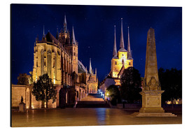 Cuadro de aluminio  Cathedral of Erfurt under the stars - pixelliebe