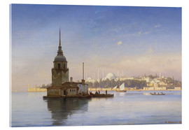 Carl Neumann - The Maiden's Tower (Maiden Tower) with Istanbul in the background