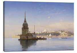 Lienzo  The Maiden's Tower (Maiden Tower) with Istanbul in the background - Carl Neumann