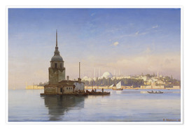 Póster  The Maiden's Tower (Maiden Tower) with Istanbul in the background - Carl Neumann