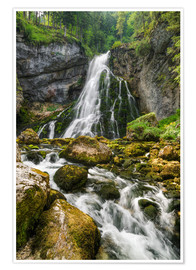 Póster Waterfall in Austria