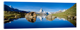 Cuadro de metacrilato  Swiss mountains with the Matterhorn and Stellisee - Jan Christopher Becke