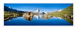 Póster  Swiss mountains with the Matterhorn and Stellisee - Jan Christopher Becke