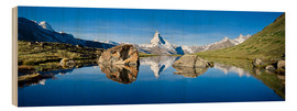 Madera  Swiss mountains with the Matterhorn and Stellisee - Jan Christopher Becke