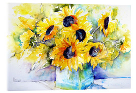 Metacrilato  Sunflowers in Vase - Brigitte Dürr