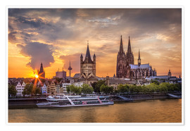 Póster Cologne Cathedral and Great St Martin