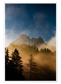 Póster  Foggy Morning in the Alps - Michael Helmer