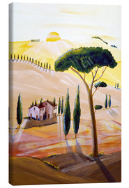 Lienzo  Tuscany in the morning - Christine Huwer
