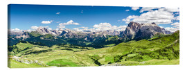 Lienzo  Seiser Alm panoramic view, South Tyrol - Sascha Kilmer