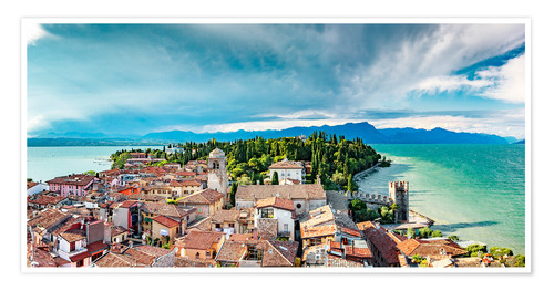 Póster Sirmione in Italy, with Lake Garda