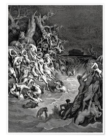 Póster  The world will be destroyed by water - Gustave Doré