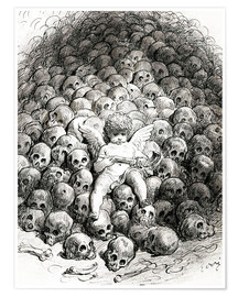 Póster  Love reflects on Death - Gustave Doré