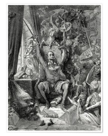 Póster  Don Quixote, a world of disorder - Gustave Doré