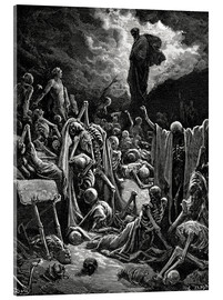 Cuadro de metacrilato  The Vision of The Valley of The Dry Bones - Gustave Doré