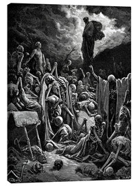 Lienzo  The Vision of The Valley of The Dry Bones - Gustave Doré