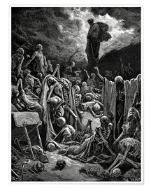 Póster  The Vision of The Valley of The Dry Bones - Gustave Doré