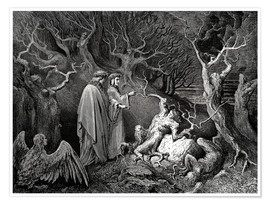 Póster  The Inferno, Canto 13 - Gustave Doré