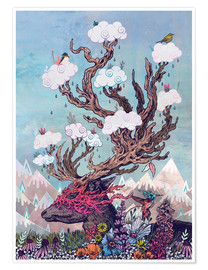 Póster  Journeying Spirit (deer) - Mat Miller