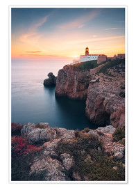 Póster  At the end of the world (Cabo de São Vicente / Algarve / Portugal) - Dirk Wiemer