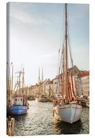 Lienzo  Old sailing boat in evening light in Nyhavn in Copenhagen. Denmark - Christian Müringer