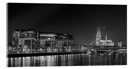 rclassen - Cologne night Skyline black / white