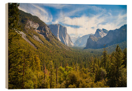 Cuadro de madera  Yosemite Valley, USA - Jan Schuler