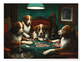 Póster  The poker game - Cassius Marcellus Coolidge