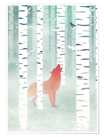 Póster winter fox