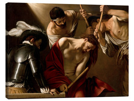 Lienzo  The Crowning with Thorns - Michelangelo Merisi (Caravaggio)