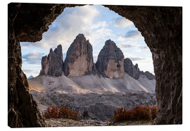 Lienzo  Three peaks, Dolomites, South Tyrol - Gerhard Wild