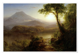 Póster  Tropical Scenery - Frederic Edwin Church