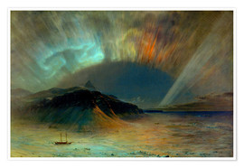 Póster  Northern lights - Frederic Edwin Church