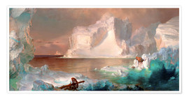 Póster  The icebergs - Frederic Edwin Church
