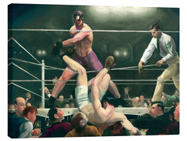 Lienzo  Dempsey and Firpo - George Wesley Bellows