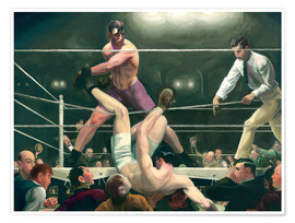 Póster  Dempsey and Firpo - George Wesley Bellows